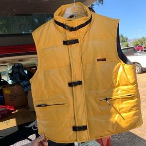 M.Julien Wilson Yellow motorcycle Leather Vest L